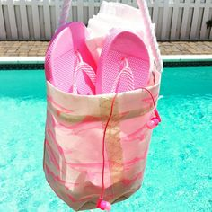 Repurpose your bucket from the bathroom to the beach or by the pool - they're handcrafted from recycled sails - so don't worry about getting them wet!