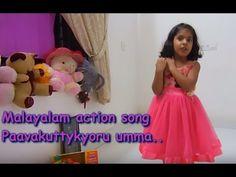 Malayalam action song for kids LKG/UKG (Paava kuttykyoru umma....)