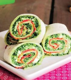 Don't show up to the potluck with a store-bought salad. These perfect potluck dishes for your campground & RV park parties will leave them craving more. Potluck Dishes, Ricotta, Tortillas, Pesto, Fresh Rolls, Cucumber, Sushi, Cravings, Recipes