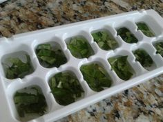 And the cubes are perfect for dropping in recipes like sauces.