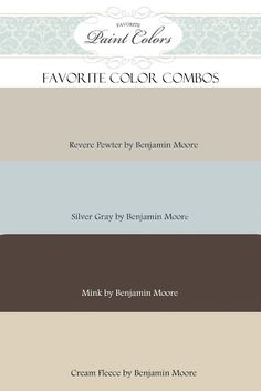 Color Combination for Revere Pewter