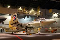 Supermarine ATTACKER >>> notice the absence of a nose-wheel and instead a tail-wheel on a jet-fighter! Fighter Aircraft, Fighter Jets, The Absence, Military Aircraft, Museums, Planes, Vehicles, Airplanes, Museum