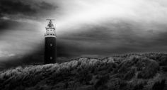 sunlit lighthouse - texel