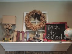 Back to School Mantle- 2013 CS HomeTown Girl- etsy.com