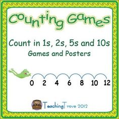Consolidate counting in ones to one hundred and skip counting in twos, fives and tens. Games and posters included.