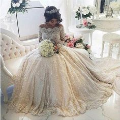 Find More Wedding Dresses Information about Vestido De Noiva Lace Wedding Dresses Turkey Full Sleeves Appliques Romantic Wedding Dress Button Sequins Crystal Casamento,High Quality dresses dress,China dress details Suppliers, Cheap dresses evening dresses from Suzhou Yast Wedding Dress Store on Aliexpress.com