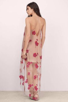 "Search ""Emily Pink Mesh Maxi Dress"" on Tobi.com! sheer floral overlay shop buy cheap inexpensive ideas chic fashion style fashionable stylish comfy simple chic essential capsule Basic outfit simple easy trendy ideas for women teens cute college fall winter summer spring outfit outfits"