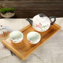 Portátil de viaje de cerámica de porcelana juego de té tetera taza de té de té elegante disfrutar de un té cultura con bolso de la bandeja(China (Mainland))