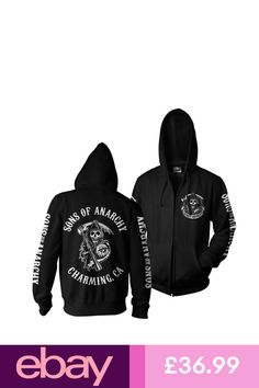 5f6511f0 Sons Of Anarchy - SOA Reaper Zipped Hoodie | Sons of Anarchy i 2019