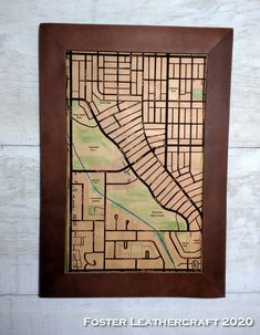 Scale Map, Unique Gifts, Best Gifts, Custom Map, Leather Craft, Hand Carved, Carving, Wood, Decor