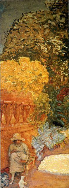 """Pierre Bonnard (Fontenay-aux-Roses, 1867 - Le Cannet, 1947) """"Femme au chat blanc ?"""" ?, Huile sur toile, H. ? cm ; L. ? cm.   ? © ?"""