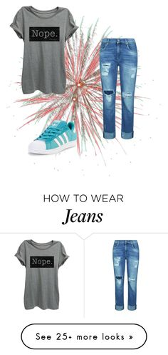 """""""Geen titel #66"""" by jillemievr on Polyvore featuring adidas Originals and 7 For All Mankind"""