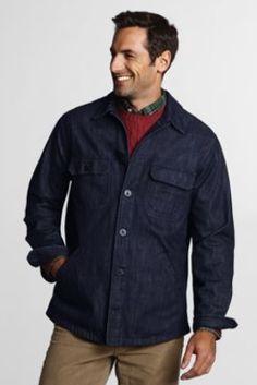 Men&39s Wool Shirt Jacket from Lands&39 End | Men&39s Department