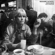 """Marianne Faithfull Broken English / Sister Morphine UK 7"""" and 12"""" 1982"""