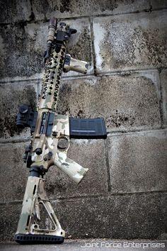 Custom by Joint Force Enterprises Weapons Guns, Military Weapons, Guns And Ammo, Rifles, Armas Airsoft, Custom Guns, Custom Ar, Ar Rifle, Ar Build