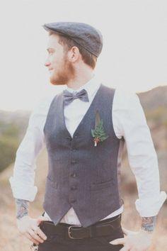 Mariage champ tre pantalon laine chemise blanche noeud for Centre ville la mariage robes