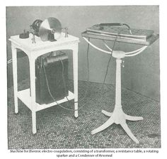 used for cancer treatment (early 20th century) ---    Source: Surgical Therapeutics and Operative Technique Vol. I, p. 457