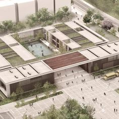 The District Department of Education partnered with architect Frank Locker for new design schools that seem least one prison and a learning space. Green Architecture, Concept Architecture, School Architecture, Architecture Design, Landscape Architecture Model, Hospital Design, Arch Model, Urban Planning, School Design