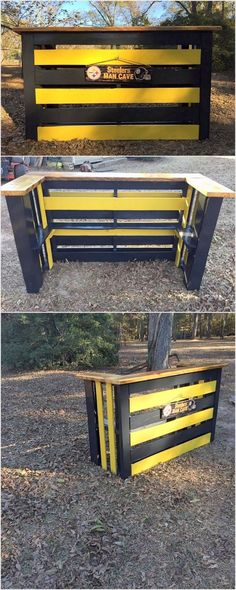 Pallet outdoor bar can stand out to be ideal option for your bar counter area or even for your kitchen corner. To make it look pleasant and funky, you can paint it with your favorite color options so that it can easily catch the attention of the people in first look.