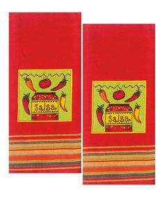 Another great find on #zulily! Red Salsa Dish Towel - Set of Two #zulilyfinds