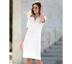 Šaty s košeľovým golierikom | modino.sk #ModinoSK #modino_sk #modino_style #style #fashion #dress White Dress, Dresses, Fashion, White Dress Outfit, Gowns, Moda, La Mode, Dress, Fasion