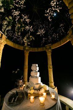 French wedding Cake  Chateau Challain Magic. Design Chateau Challain   Photos By Flavio Bandiera French garden wedding Night cake cutting