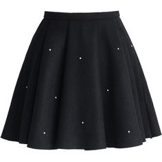 Chicwish Crystal Grace Wool Skirt in Black ($45) ❤ liked on Polyvore featuring skirts, bottoms, faldas, saias, black, wool skirt, black skirt, black knee length skirt, woolen skirts and black wool skirt