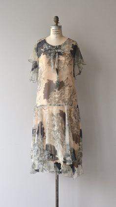 Nachtgesang Kleid 1920er Jahre Seidenkleid chiffon von DearGolden