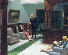 Hotel Lobby - Edward Hopper