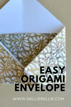 Great way to use up that extra scrapbook paper. Learn how to make Origami Envelopes. #Origami #Paper #Craft #Envelope How To Make Origami, Origami Easy, Origami Paper, Origami Envelope, Fold Envelope, How To Make An Envelope, Love Messages, Paper Craft, Envelopes