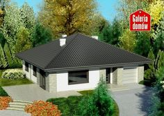 Projekt domu: Dom przy Słonecznej 2 bis Bungalow House Design, Future House, Gazebo, House Plans, New Homes, Outdoor Structures, Cabin, How To Plan, House Styles