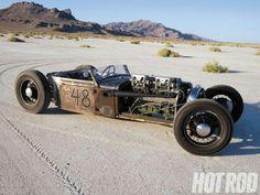 Supercharged Flathead Packard Straight Eight Rat Rod.