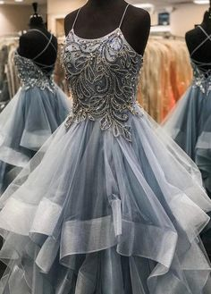 Beading Long Prom Dress with Lace up Back, Popular Evening Dress ,Fashion Wedding Party Dress Beading Long Prom Dress with Lace up Back, Popular Evening Dress ,Fash – PromDressForGirl Straps Prom Dresses, Ball Gowns Prom, Cheap Prom Dresses, Wedding Dresses, Grey Prom Dress, Beaded Prom Dress, Dress Long, Beaded Top, Formal Evening Dresses