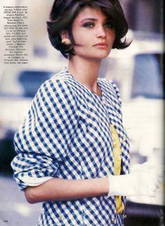 "US Vogue March 1990 ""Spring's New Suits"" Model: Helena Christensen & Linda Evangelista Ph: Peter Lindbergh Fashion Editor: Carlyne Cerf de Dudzeele hair: Oribe Make-up: Laura Mercier"