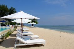 Seri Resort, Gili Meno offers simple sophistication on an island where you can swim in turquoise waters and lay on unspoiled beaches. Each room is beautifully designed where white on white is accented with touches of ocean blues.  You'll find yourself reading a good book, enjoying a stroll, sipping on cocktails by the pool, doing yoga or watching the sunrise from behind a volcano, this is paradise.