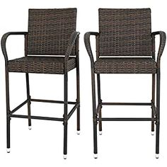 Wicker Patio Chairs Archives - Page 2 of 3 - patiofurnishing.com Wicker Counter Stools, Wicker Patio Chairs, Rattan Bar Stools, Outdoor Bar Stools, Bar Stool Chairs, Outdoor Dining Chairs, Wicker Furniture, Outdoor Living, Furniture Decor