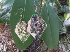 hawaiian earrings hula girl Soda can jewelryTribal by Soda2Art