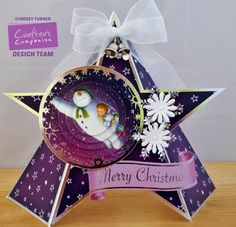 Handmade with Love, Gems and Pretty Things: Snowman & Snowdog Christmas Snowman, Christmas Bulbs, Snowman And The Snowdog, Crafters Companion Cards, Dog Cards, Shaped Cards, Create And Craft, Cute Cards, Hobbies And Crafts
