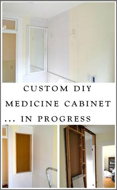 We designed and built a custom, DIY, extra tall, recessed medicine cabinet to maximize space in our old-house bathroom.