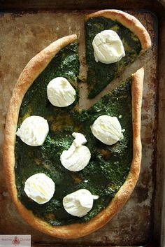 Kale Pesto and Goat Cheese Pizza by Heather Christo. Mmmmmmm!