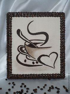 Панно из кофейных зерен Easy Diy Crafts, Diy Arts And Crafts, Diy Craft Projects, Paper Crafts, Coffee Bean Art, Coffee Beans, Emoji Coloring Pages, Coffee Crafts, Art Corner