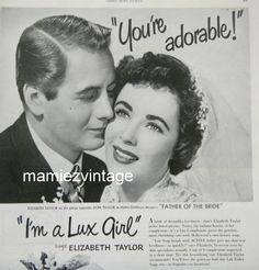 Lux Soap Ad/ Elizabeth Taylor/ Vintage Bathroom by mamiezvintage, $9.95