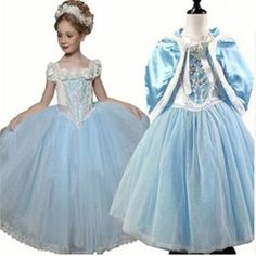 Girls Cinderella Princess Dress Halloween Costume