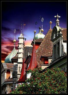 Roof tops, Lucerne, Switzerland