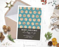 Printable Modern Star Christmas Card - Holiday Card - 5 x7 - Do it yourself Customizable Printable Christmas Card by TheSpringRabbit on Etsy
