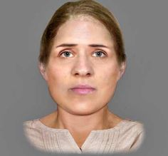 Reconstructed face of a 6th century woman found at a crypt in EDINBURGH. forensic report points to murder from a blunt-force injury to the right side of the head which would have left brain exposed. Chipping to her right molar may be further evidence of a violent attack