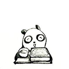 【一日一大熊猫】 2015.5.25 引っ越し蕎麦は引っ越した人が 近所に配るものらしいよ。 #パンダ #引っ越し蕎麦 http://osaru-panda.jimdo.com