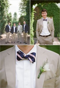 This is the color suit I like the best.  The tie is awesome but I can't see Pat agreeing w/ me...  ;)  preppy wedding ideas