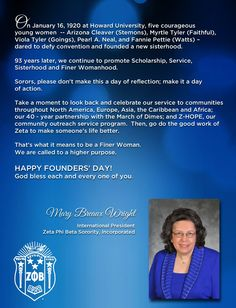24 best 2018 founders day images on pinterest in 2018 founders day official founders day greeting to the ladies of zeta phi beta sorority inc from m4hsunfo