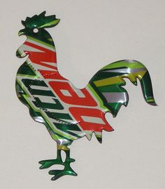 Rooster Magnet - Mountain Dew - Soda Can